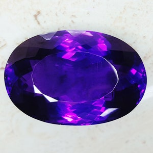 Details about  /Loose Gemstone Natural Amethyst Certified 45 To 50 Cts Pear Shape Z37