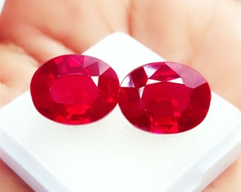 Red Ruby Natural Loose Gemstone 10.00 Ct Cushion Cut Certified Loose faceted for Ring,Pendant!