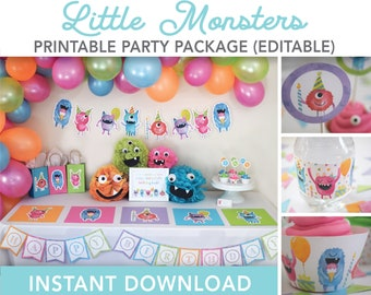 Little Monster First Birthday Decorations  from i.etsystatic.com