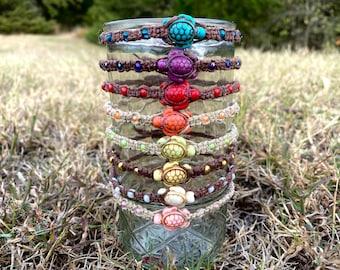 Turtle Bracelet/ Hemp Bracelet/ Adjustable Hemp bracelet/ Turtle Hemp bracelets / Turtle lovers / Gifts under 10