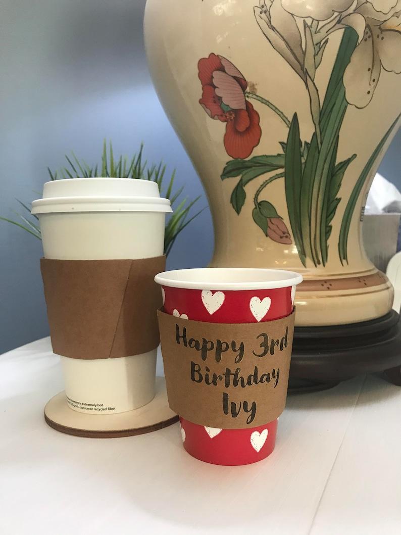 8 oz hot drink sleeve customize 8 ounce coffee sleeve image 0