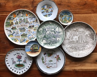 large decorative plates for the wall.htm state plates etsy  state plates etsy