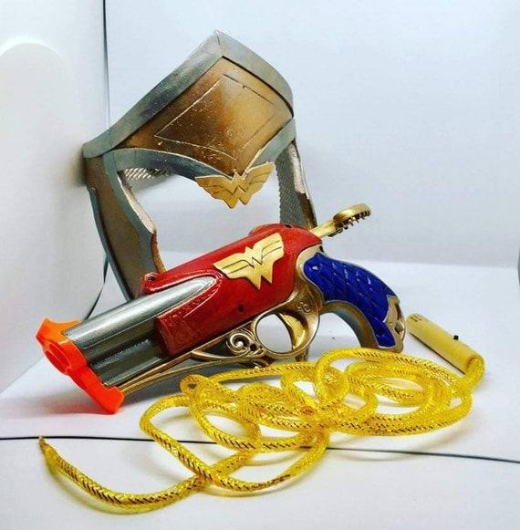 Custom Painted Nerf Rebelle Spylight  Wonder Woman Inspired.