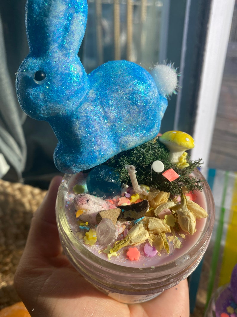 Blue Bunny Candle 4 oz