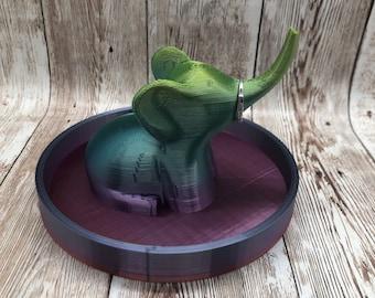 Elephant Ring Holder with Dish