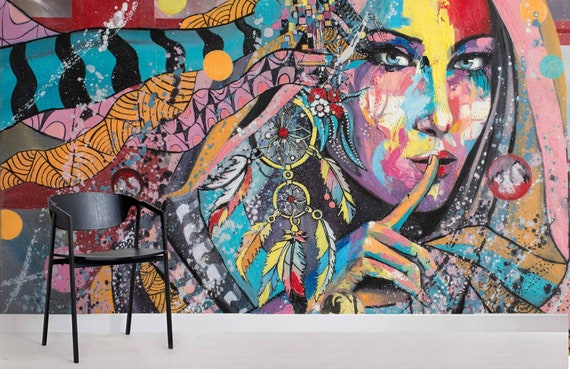 show original title Details about  /3D Fashion Girls 854NAM business Wallpaper Mural Self Adhesive Trade Amy