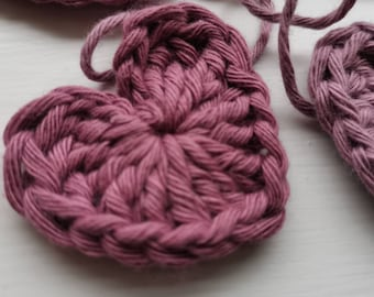 Crocheted heart garland/heart bunting/100cm or 200cm