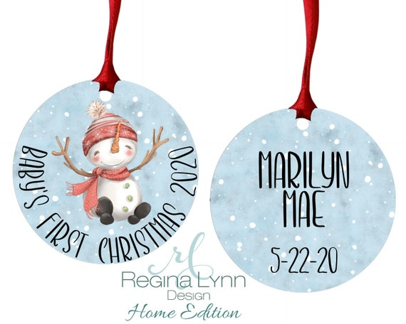 Custom Holiday Ornament Baby/'s first Christmas Ornament