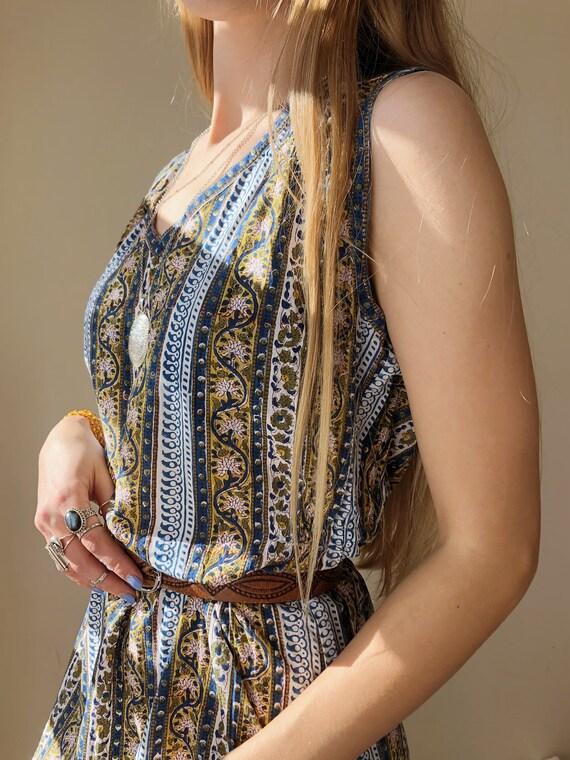 Anokhi Indian cotton VTG Light summer dress // med