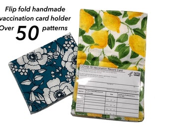 """Vaccination Card Holder, CDC card holder, Card Protector, Flip Vaccination Card Holder, Covid Card, Shot Record Protector, For 3"""" x 4"""" Card"""