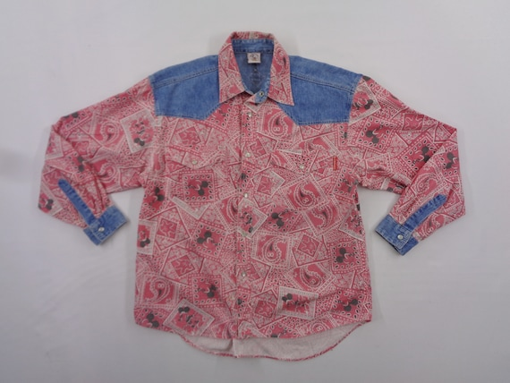 Mickey Mouse Shirt Mickey Mouse Button Down Shirt