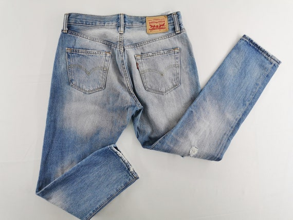 Levis 501 Jeans Distressed Levis 501 Denim Jeans S