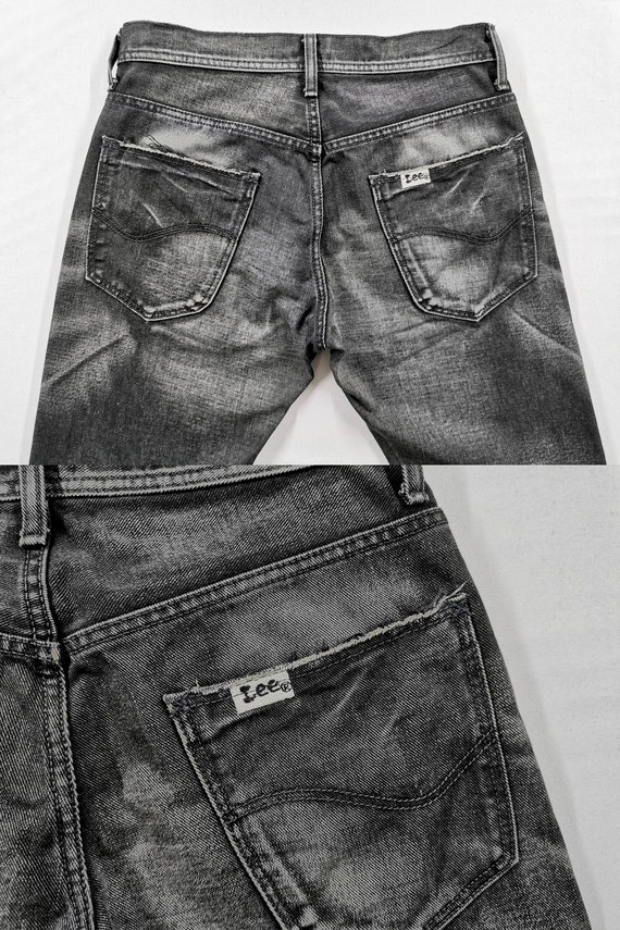 Lee Riders Jeans Vintage Distressed Destroy Size … - image 7