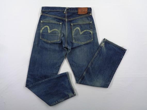 Evisu Jeans Vintage Distressed Destroy Size 31 Evi