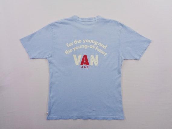 Van Jac Shirt Vintage Van Jac Big Logo T Shirt Siz