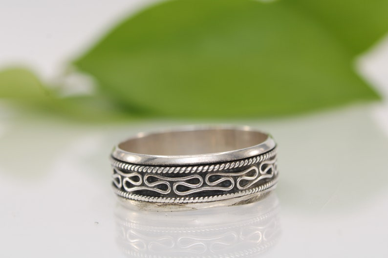 gift for her Bali Thumb ring Sterling Silver Vintage Thumb Ring stacking ring