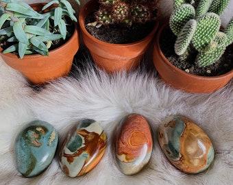 Polychrome Jasper Palmstone | Desert Jasper | Tumbled Palm | Earth Crystal | Crystal Healing | Reiki Stone