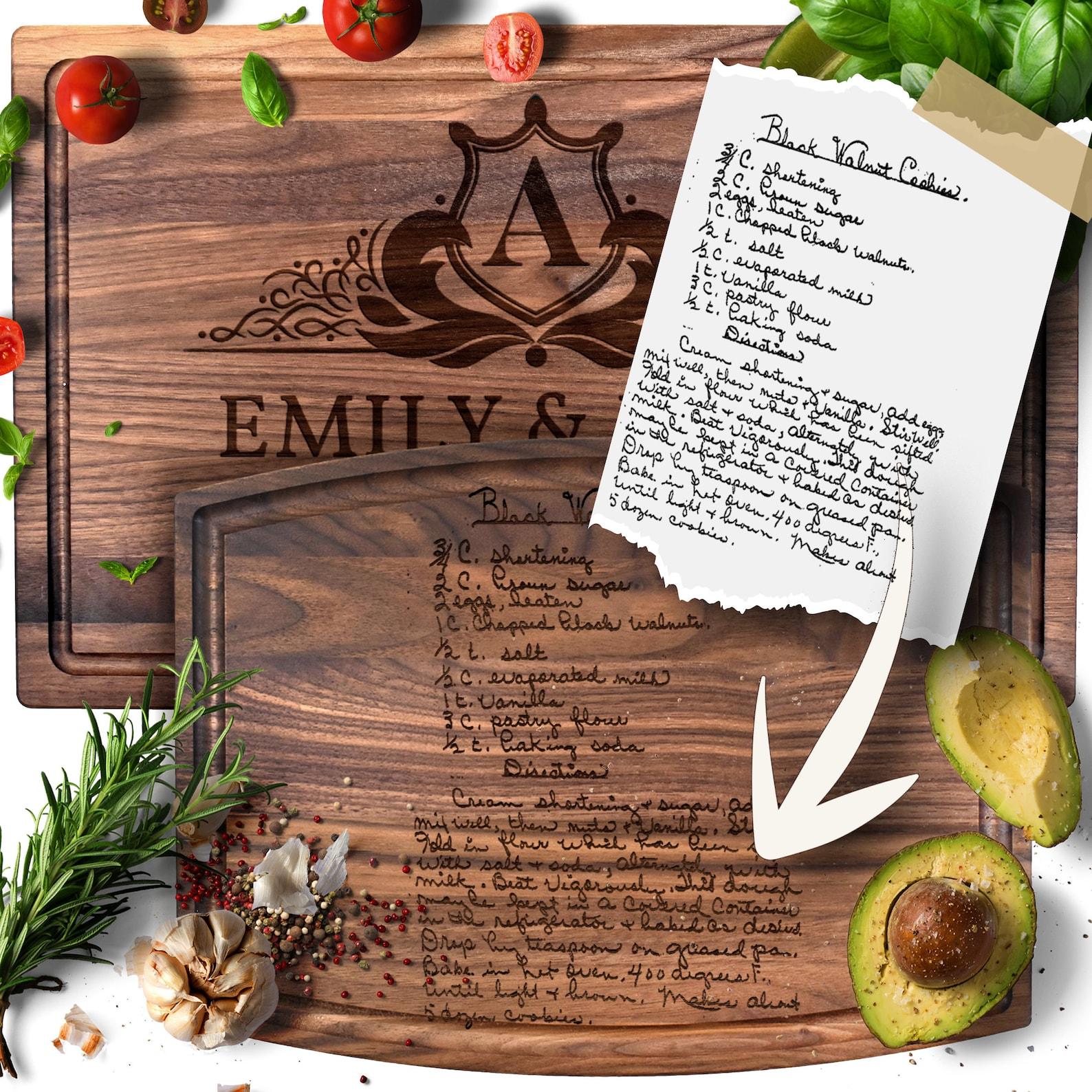 Recipe Cutting Board / Personalized