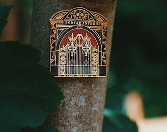 Kingdom of The Wicked Gates of Hell Enamel Pin