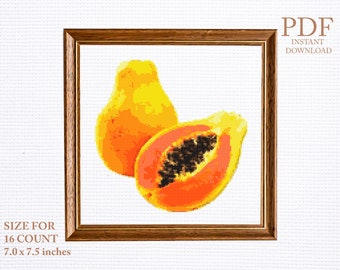 /'Papaya/' cross stitch point de croix Hand dyed cotton thread for embroidery