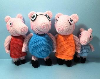 PEPPA PIG Amigurumi Pattern, Peppa Pig Patrón Amigurumi in 2020 ... | 270x340