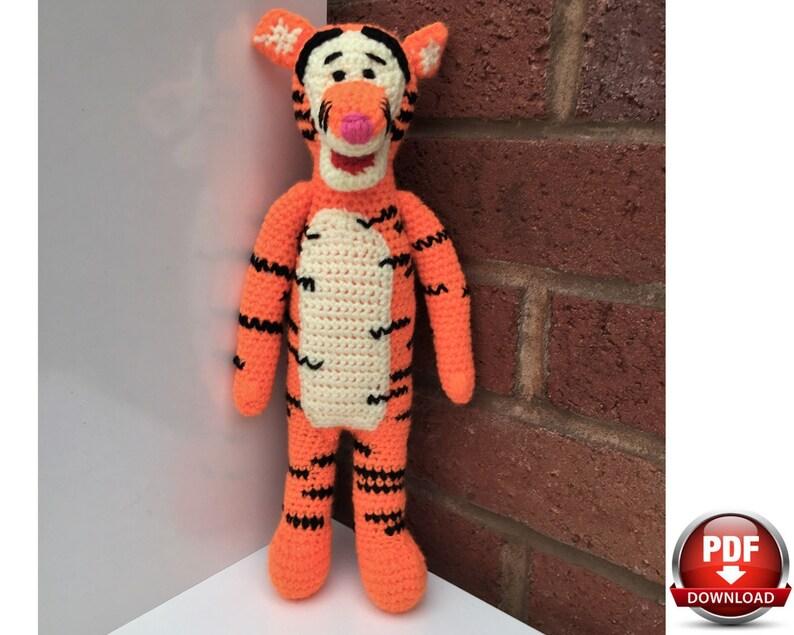 Crochet Stuffed Toys /& Dolls Winnie the Pooh Doll CROCHET PATTERN: Tigger Crochet Pattern Unofficial Amigurumi Pattern