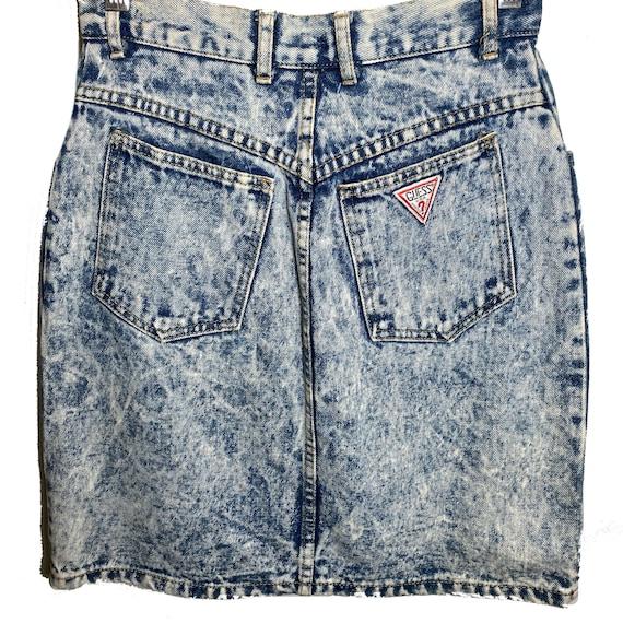 Vintage 80s Guess Denim Skirt