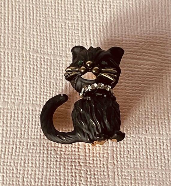cat lady gift cat collar clip tuxedo cat accessory cat brooch Tuxedo cat black and white cat