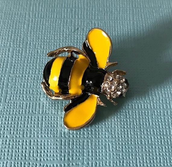 bee pins copper bee brooch rhinestone bee pin bee jewelry insect pin rhinestone bee pins bee brooch copper rhinestone bumble bee pin