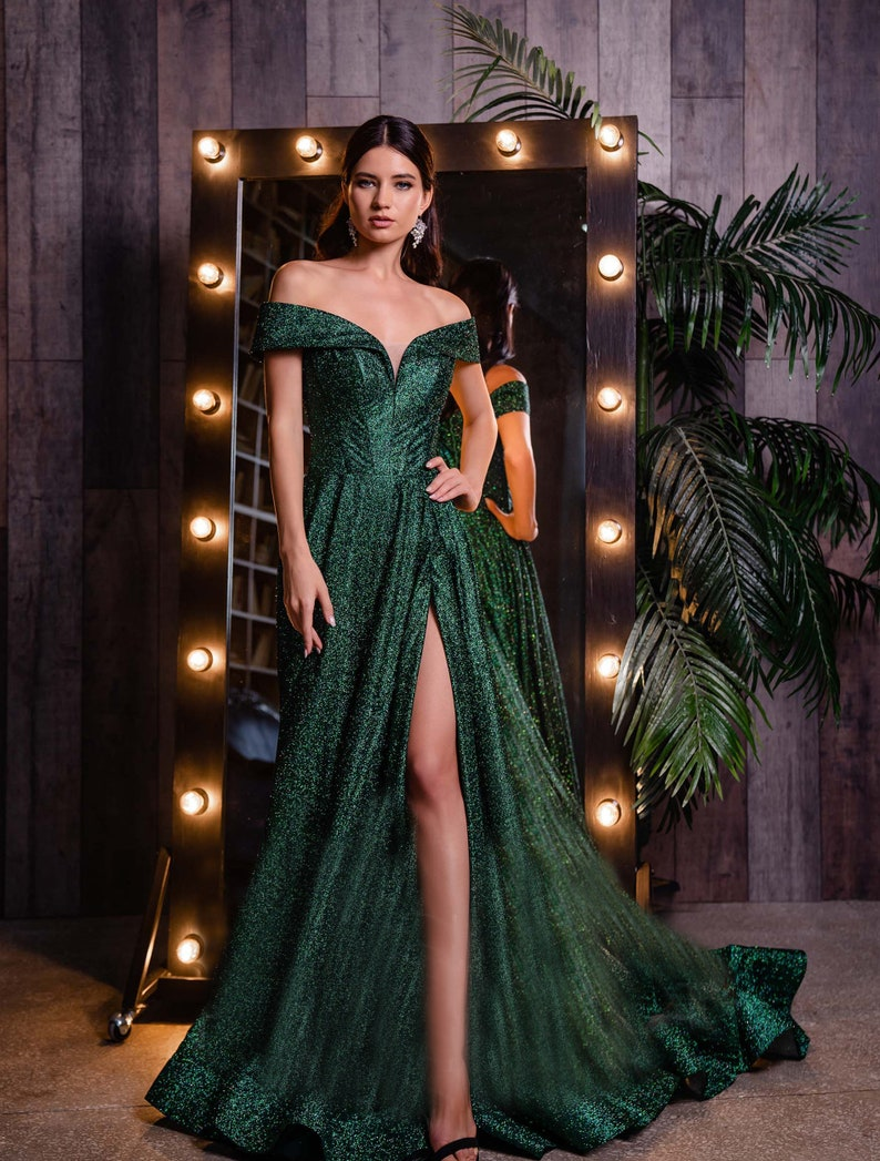 Off Shoulders Sexy Dress Evening Dress Party Dress Lonh image 1