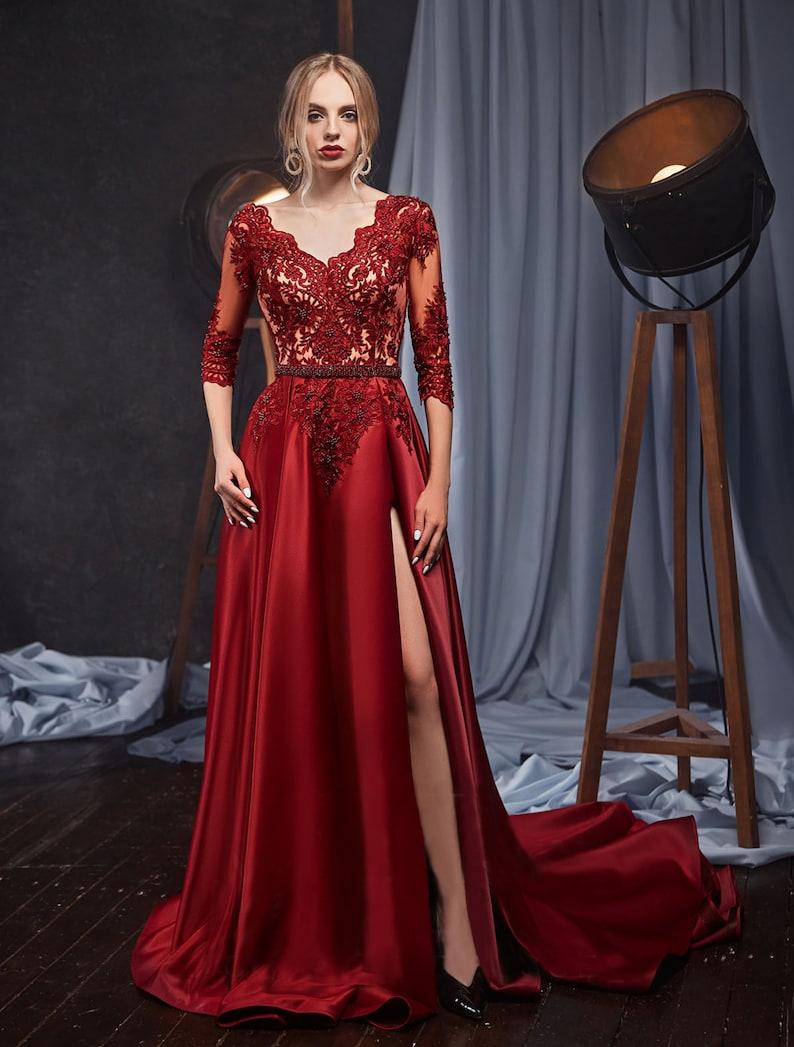 Prom Luxury Dress EveningLong Sleeves Dress Alternative image 2