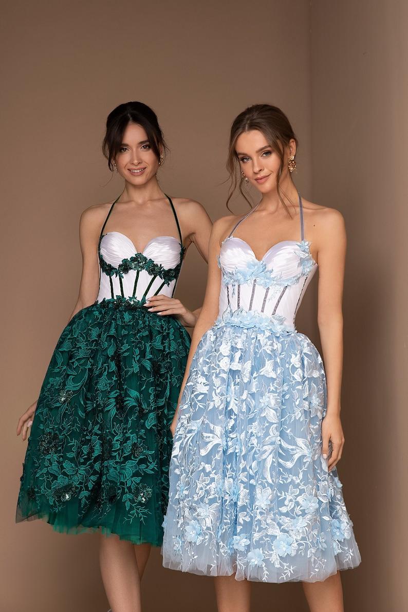 Midi Delicate Dress Dior Style Sexy Dress Corset Party image 0