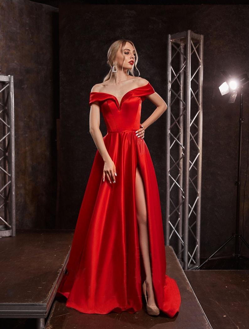 Off Shoulders Evening Dress A-line Gown Off Shoulder image 0