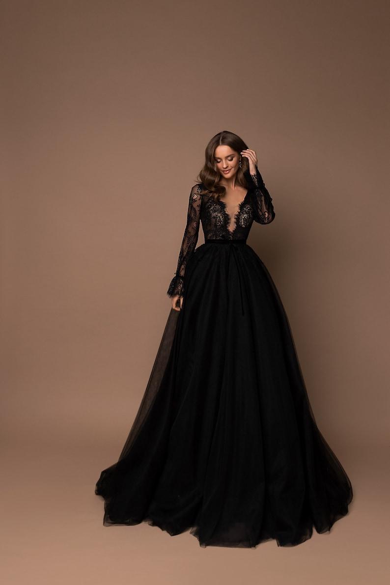 Bridesmaid Dress Tulle Dress V-Neck Maxi Dress Party Dress image 1