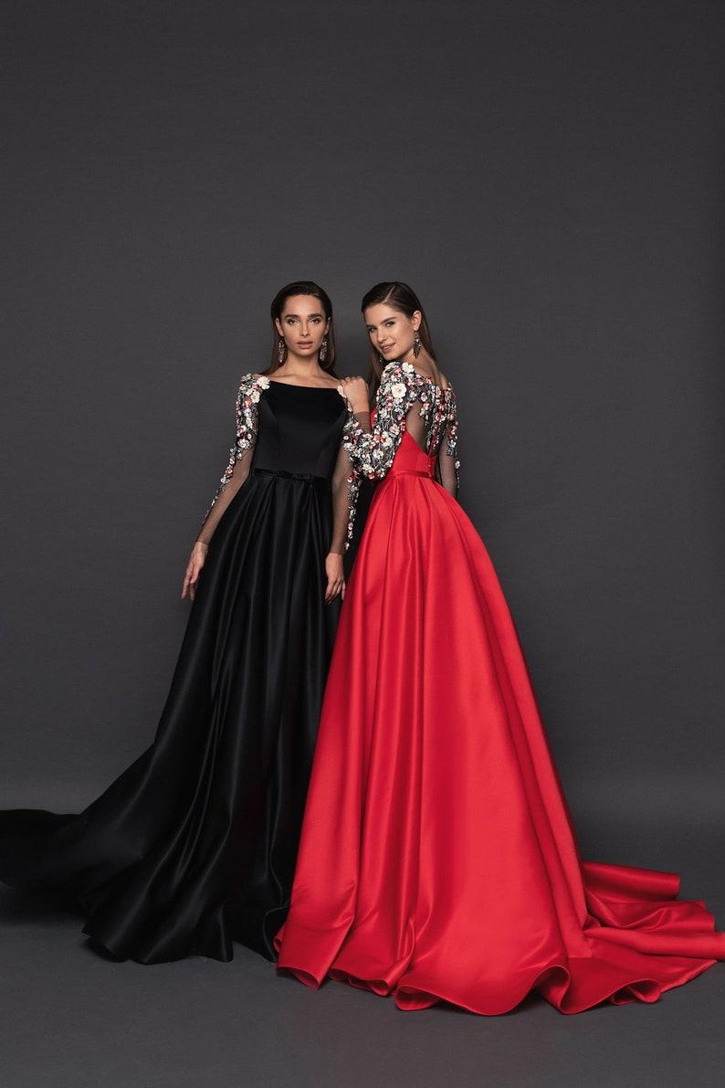 Long Sleeves Dress Casual Dress Maxi Length Dress Christmas image 0