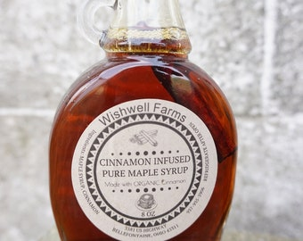 Cinnamon Infused Ohio Maple Syrup