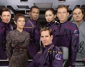 Star Trek Enterprise Scott Bakula Jolene Blalock Linda Park Cast Signed Photo Autograph Reprint Poster