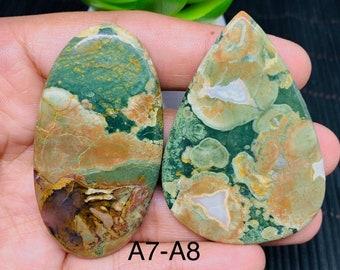 Pendant Use Oval Rhyolite Designer Cabochon RR675 Rhyolite Smooth Gemstone 36x27x6 mm 100/% Natural Rainforest Rhyolite Gemstone 1 Pcs