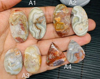 25 Cts  Crazy lace agate cabochon  Mexican Crazy Lace Agate  Natural Crazy Lace Agate  agate pendant 35x19x5 MM T2560