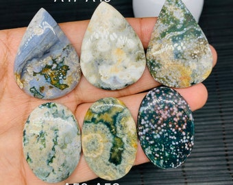44.Ct Excellent Natural Skin Ocean Jasper Cabochon Oval 22x42x5MM Approx Calibrated Gemstone Smooth Polish Best Collection of Ocean Jasper