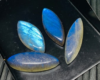 Natural Labradorite Cabs Labradorite Cabochon Pear 12x16-17 mm Blue Color AAA Quality Code #A18 Labradorite Stone Pack of 1 Piece
