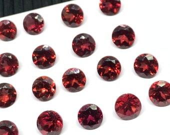 Loose gem AAA Top Quality Natural Rhodolite Garnet Round Rose cut 6 mm