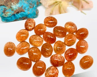 31x31x4 48.15 Cts Good Quality Natural Nice Sunstone  Awesome Cabochon Loose Gemstone  Square Shape Size mm Free Shipping