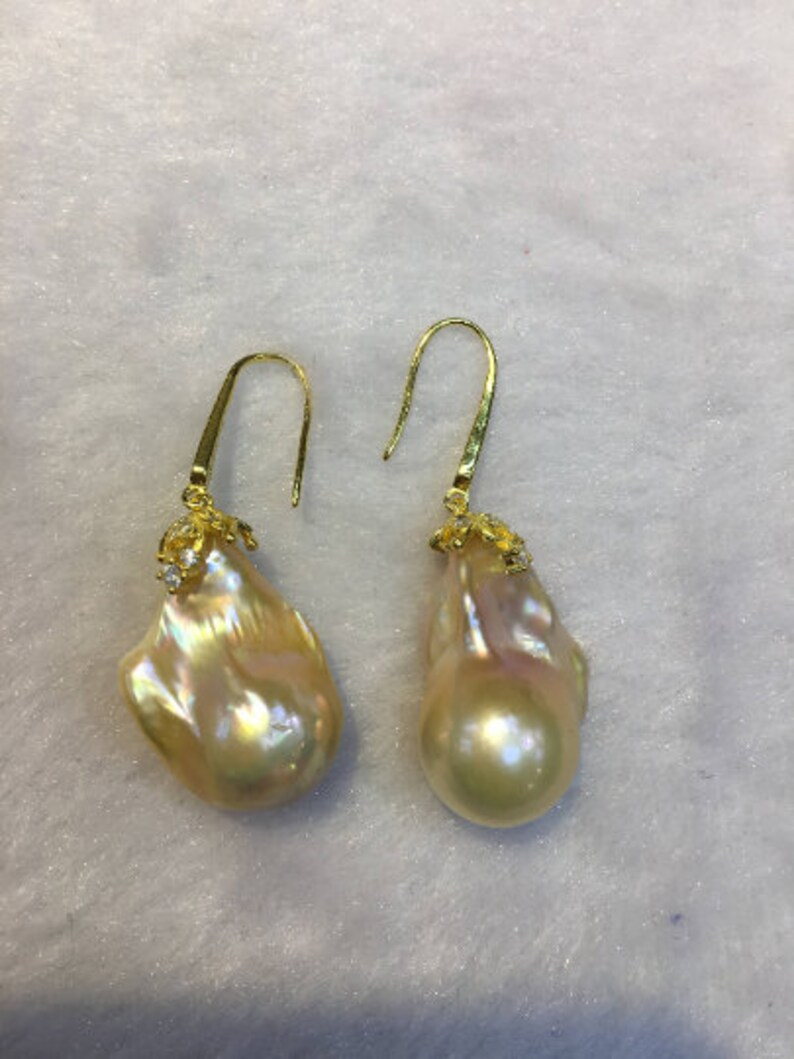 code 02 Natural Pearl AAAA quality Cultured Freshwater Pearl Silver 925 Earrings