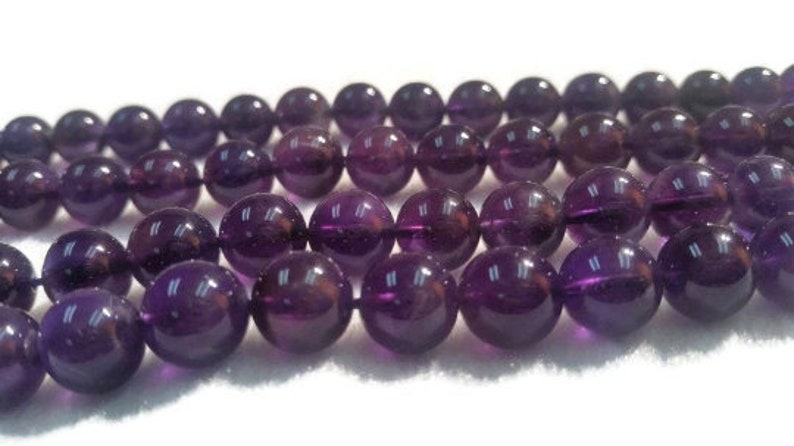 10MM Amethyst Round Beads Length 40cm Natural Amethyst Round .AAA Good Quality