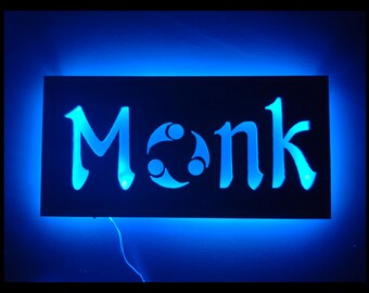 EverQuest Inspired Monk LED Lit Wall Sign