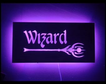 EverQuest Inspired Wizard LED Lit Wall Sign