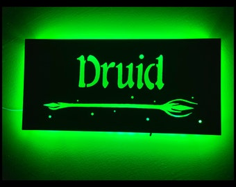 EverQuest Inspired Druid LED Lit Wall Sign