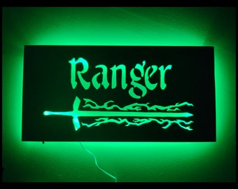 EverQuest Inspired Ranger LED Lit Wall Sign