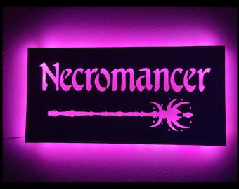 EverQuest Inspired Necromancer LED Lit Wall Sign